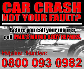 Crash not your fault? Call us for motor body repairs! Car insurance repairs leicestershire. Insurance approved repairers